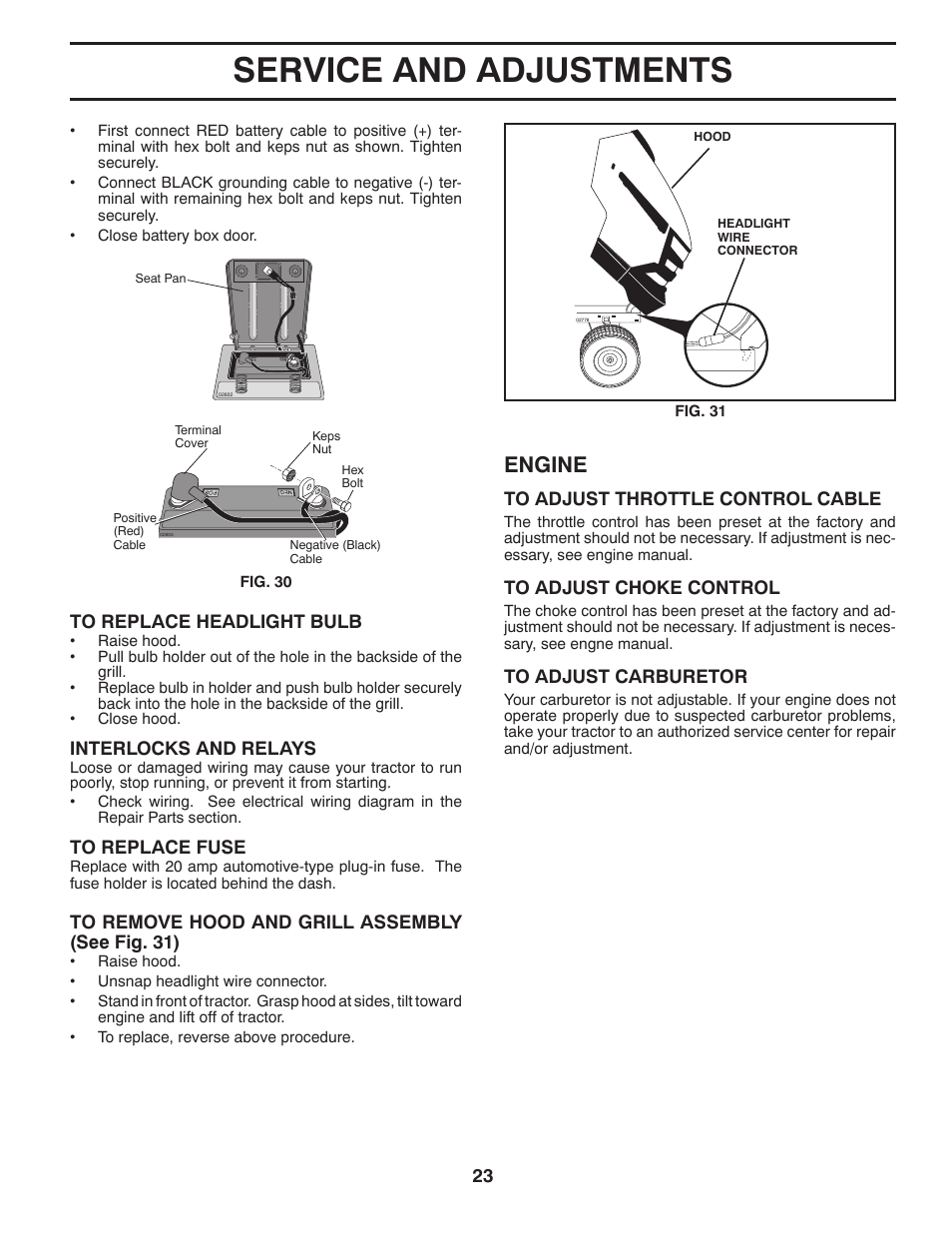 hight resolution of service and adjustments engine husqvarna 2246ls user manual page 23 44