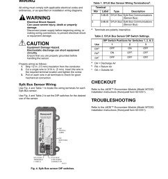 wiring checkout troubleshooting honeywell enthalpy sylk bus sensor c7400s user manual page 3 4 [ 954 x 1235 Pixel ]