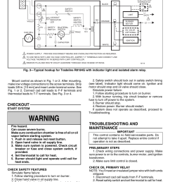 warning troubleshooting and maintenance checkout honeywell protectorelay r8184g user manual page 2 4 [ 954 x 1475 Pixel ]