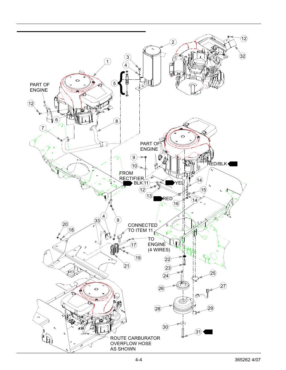 Honda 16 hp engine installation, Honda 16 hp engine