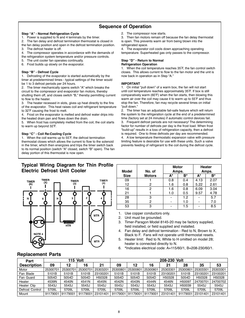 Heatcraft Evaporator Wiring Diagram Electric Two - Wiring Diagram