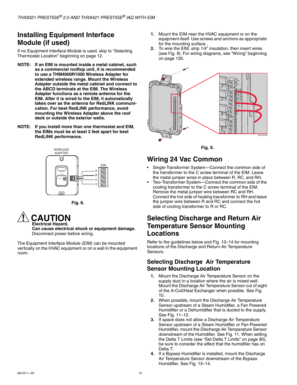 medium resolution of installing equipment interface module if used wiring 24 vac common mounting locations