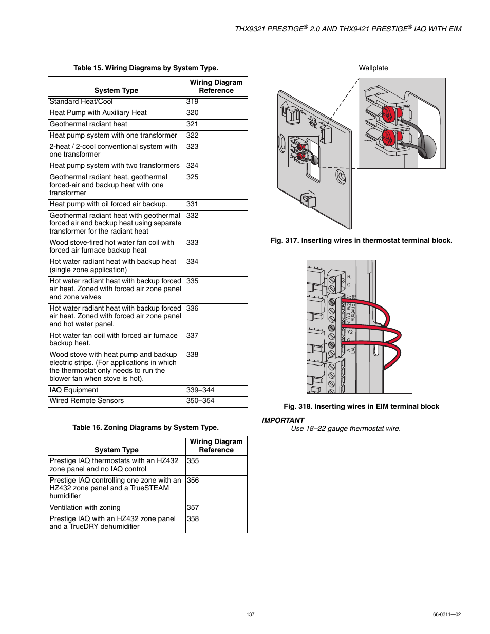 hight resolution of honeywell prestige thx9321 user manual page 137 160 also for old honeywell thermostat wiring diagram honeywell