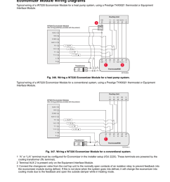 economizer module wiring diagrams thx9321 prestige iaq with eim honeywell prestige thx9321 user manual page 151 160 [ 954 x 1235 Pixel ]