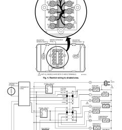 t8011r programmable heat pump thermostat gc r y w1 l w2 e b o honeywell thermostat t8011r wiring diagram [ 954 x 1475 Pixel ]