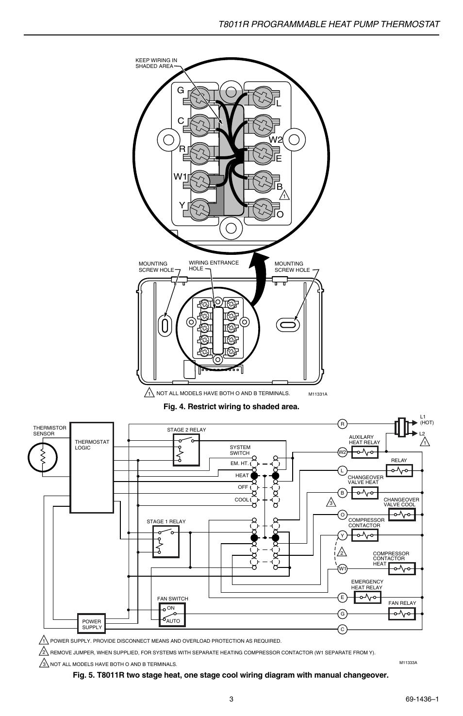 medium resolution of t8011r programmable heat pump thermostat gc r y w1 l w2 e b o honeywell thermostat t8011r wiring diagram