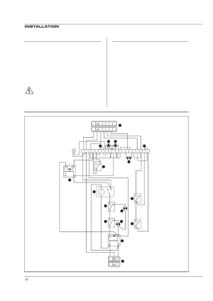 Electrical connections, Wiring diagram, Installation