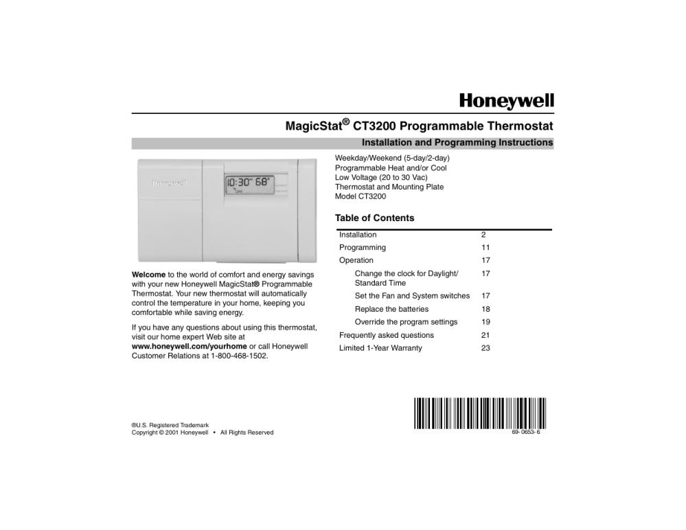 medium resolution of household thermostat wiring diagram installation