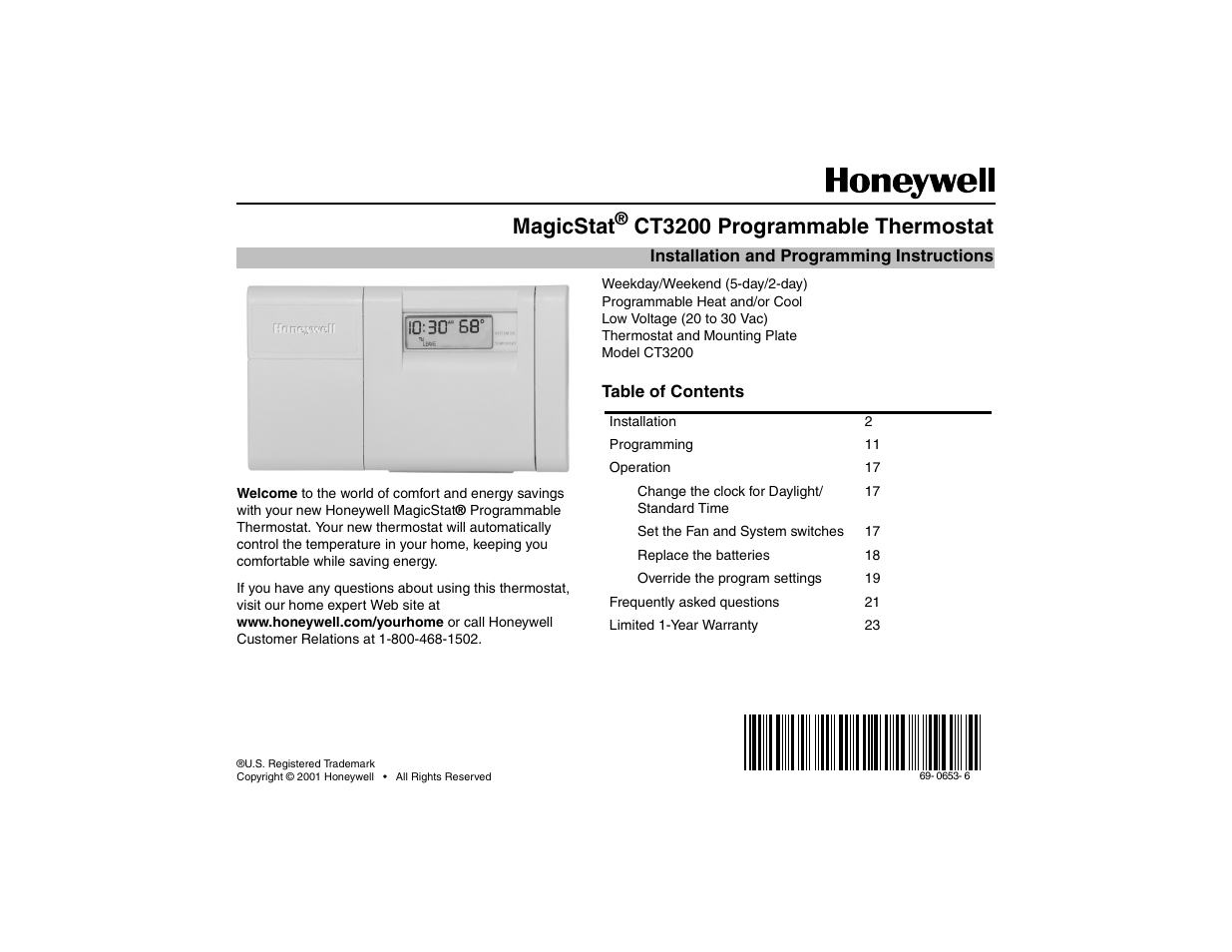 hight resolution of honeywell thermostat schematic