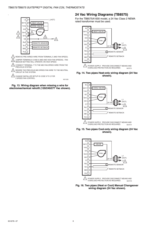 small resolution of honeywell suitepro tb8575 user manual page 8 20 also for suitepro tb6575