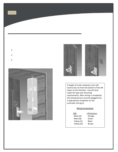 small resolution of top landing emi interlock optional harmar mobility lifts rpl400 user manual page 15 22