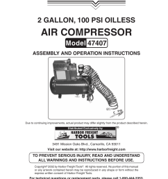 harbor freight tools central pneumatic 47407 user manual  [ 954 x 1235 Pixel ]