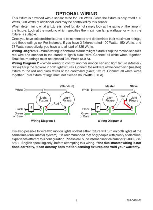 small resolution of optional wiring heath zenith motion sensing diecast lantern sl 4190 series user manual
