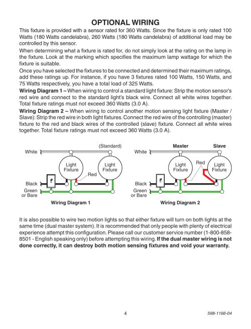 small resolution of optional wiring heath zenith dual brite pf 4125 az user manual page 4 24