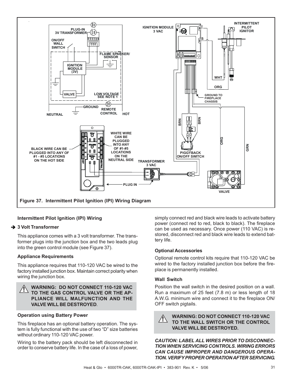 hight resolution of heat glo fireplace 6000tr oak user manual page 27 31 also for 6000tr oak ipi