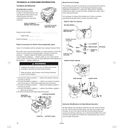technical consumer information technical information serial number location honda gx270 user manual page 16 60 [ 954 x 1336 Pixel ]