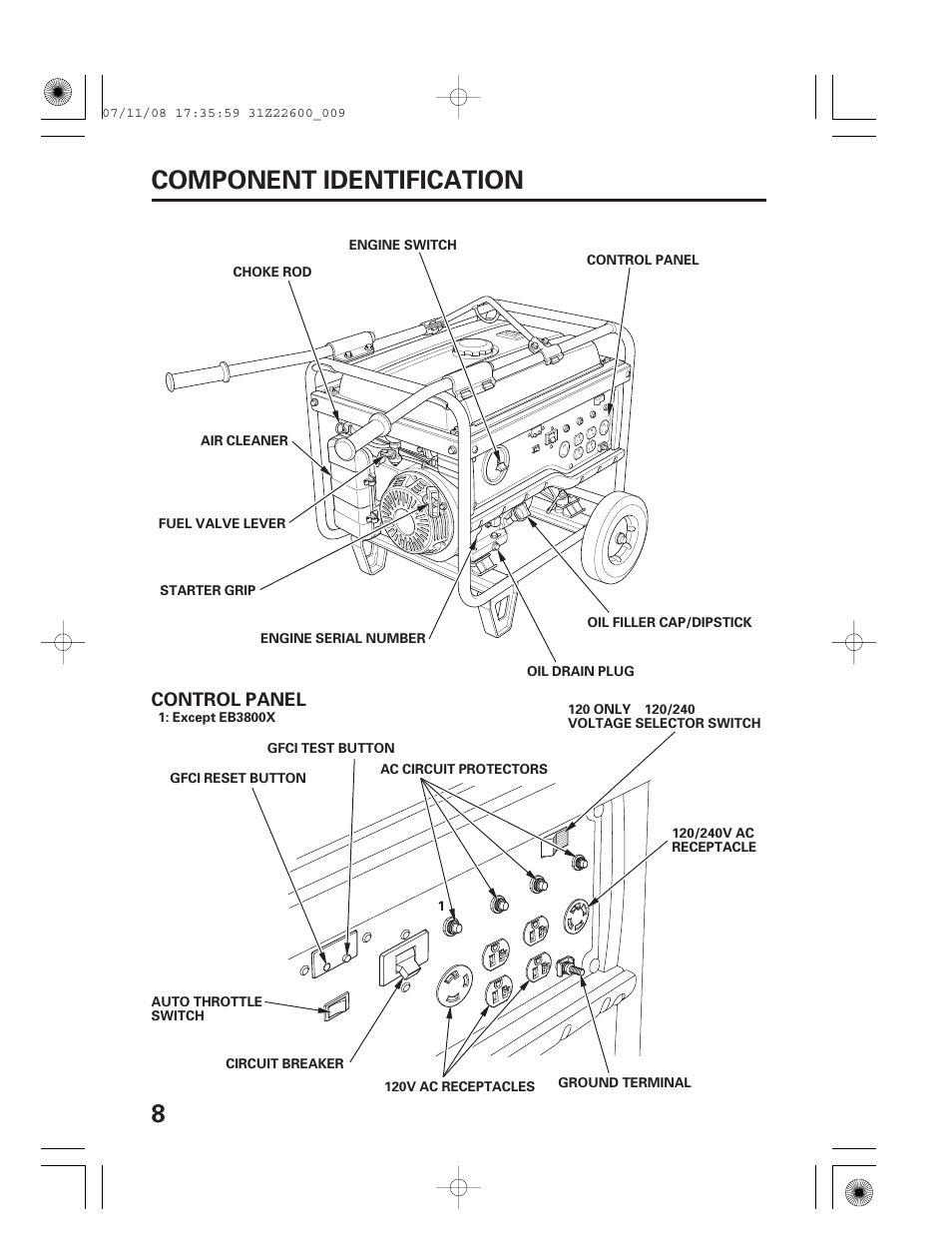 Component identification, 8component identification