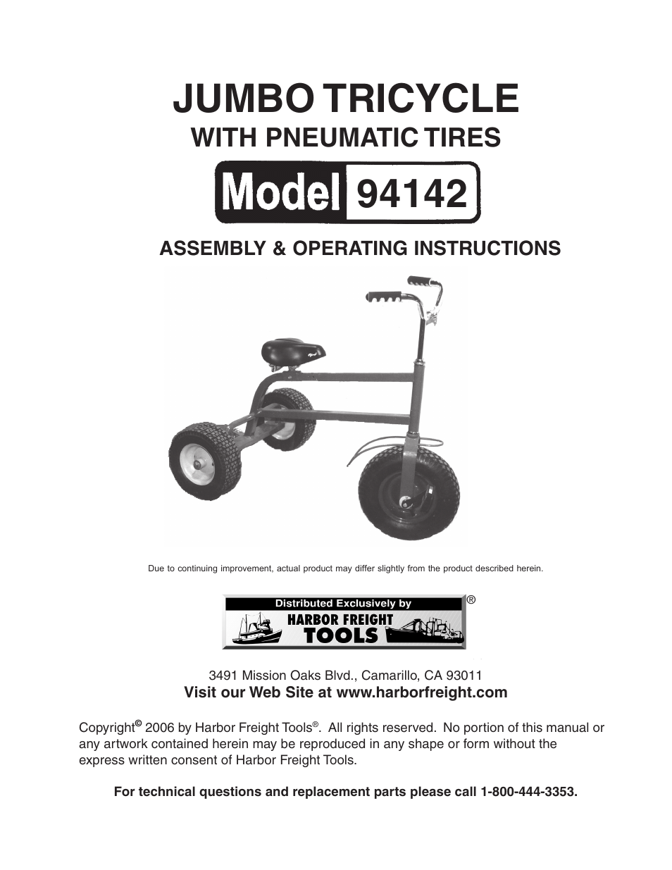 Harbor Freight Tricycle