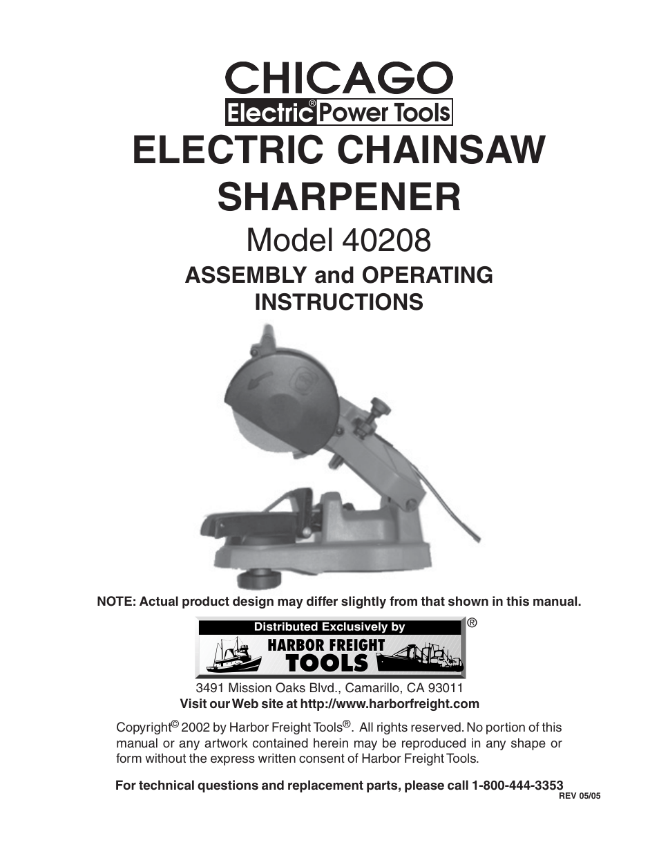 Harbor Freight Chainsaw Sharpener Manual