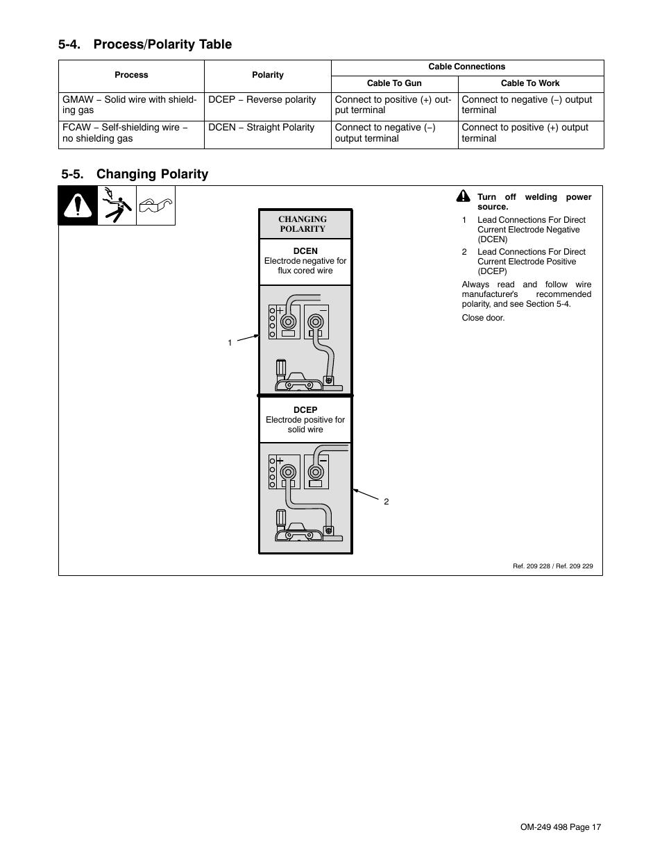 hight resolution of welding polarity diagram