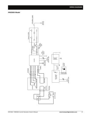 Wiring diagram  hw2000i model, Hw2000i model   Honeywell HW2000i User Manual   Page 37  46