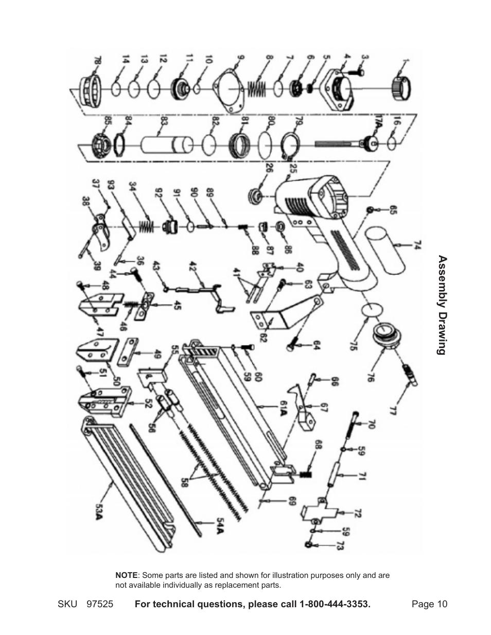 Harbor Freight Tools Central Pneumatic AIr Nailer/Stapler