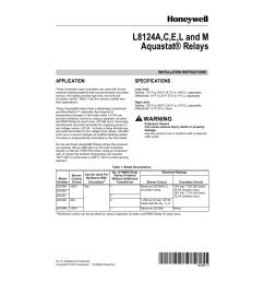 honeywell aquastat l8124e user manual 8 pages also for aquastat l8124m aquastat l8124l aquastat l8124c aquastat l8124a [ 954 x 1235 Pixel ]