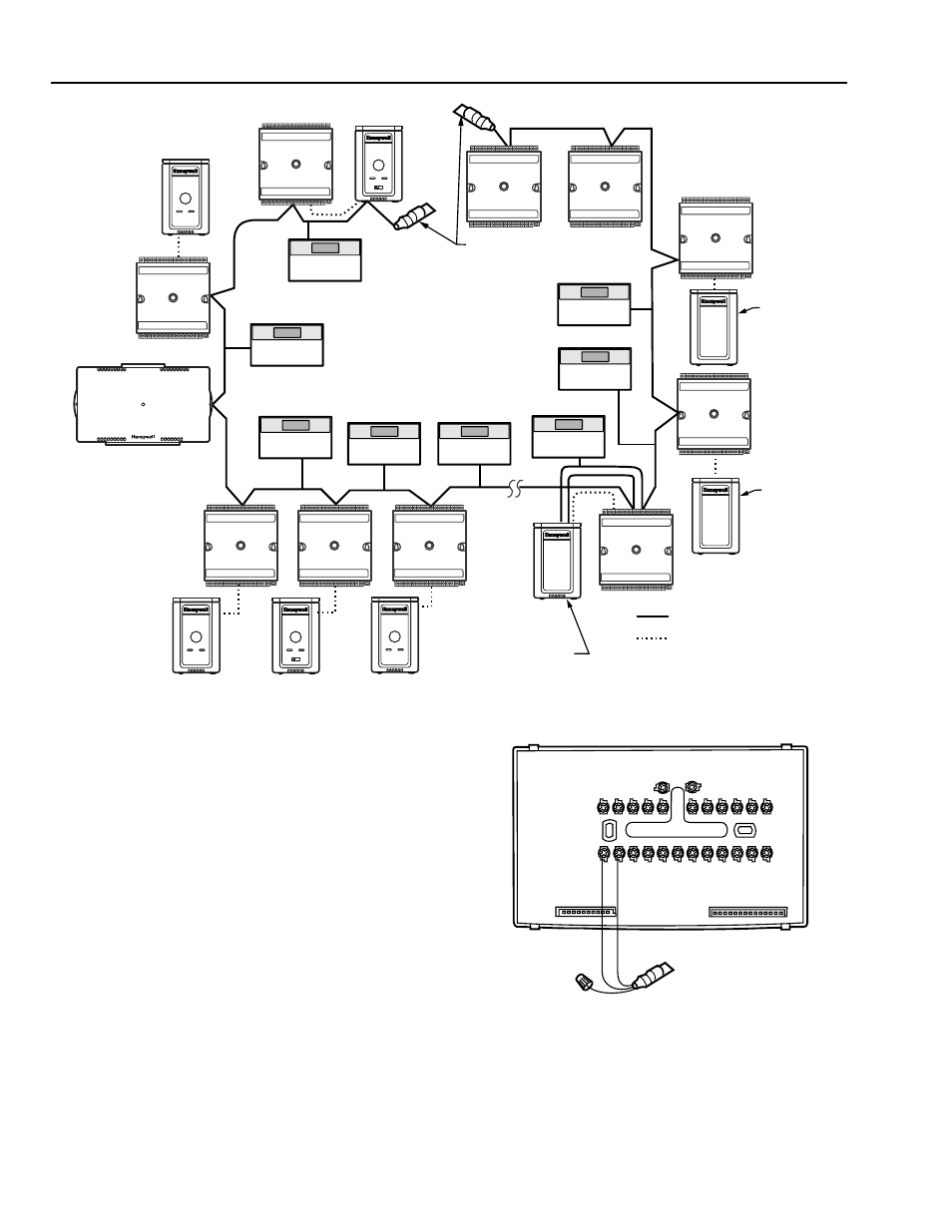 Cable termination, Singly terminated network segment
