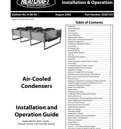 heatcraft refrigeration products air cooled condensers none user manual 20 pages [ 954 x 1235 Pixel ]