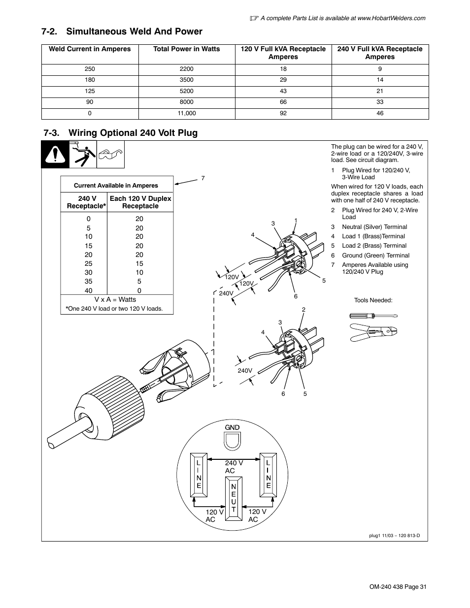 hight resolution of 2 simultaneous weld and power 3 wiring optional 240 volt plug hobart