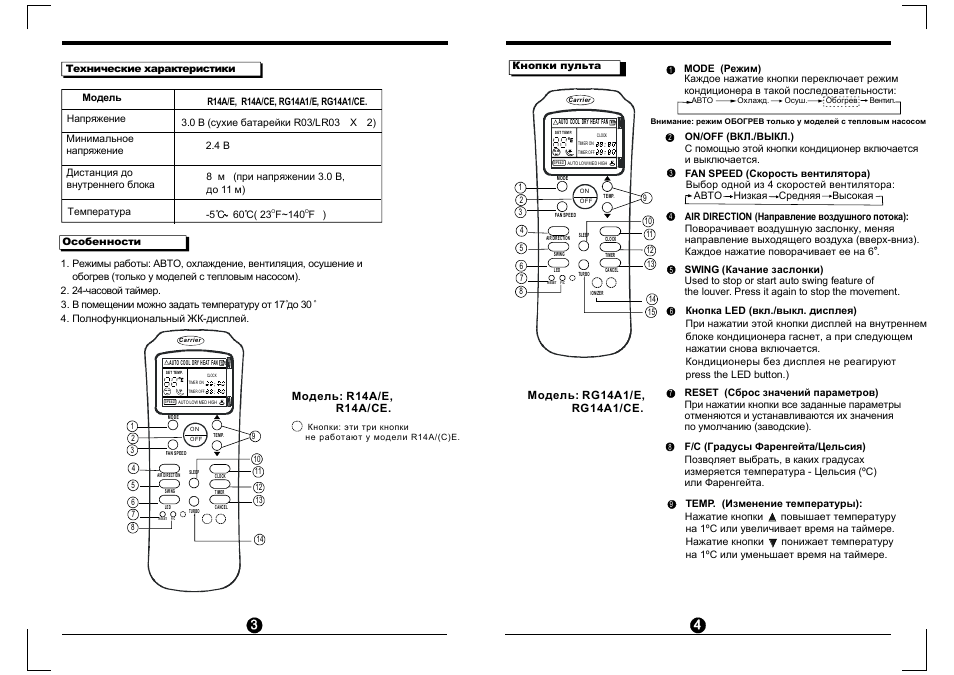 Carrier fa4bnf030 manual