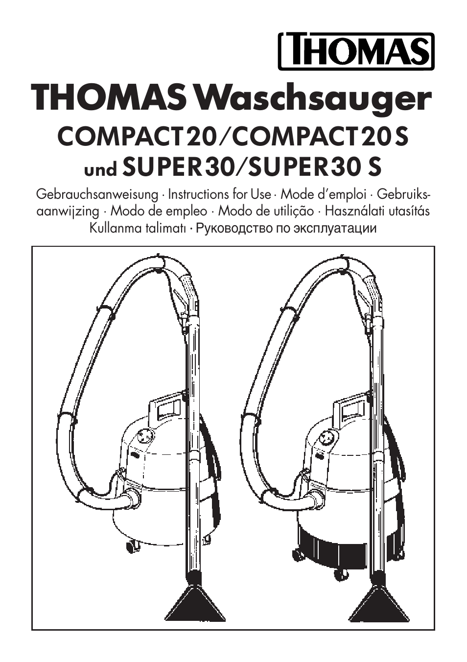 Thomas waschsauger, Compact20/compact20 s, Super30/super30
