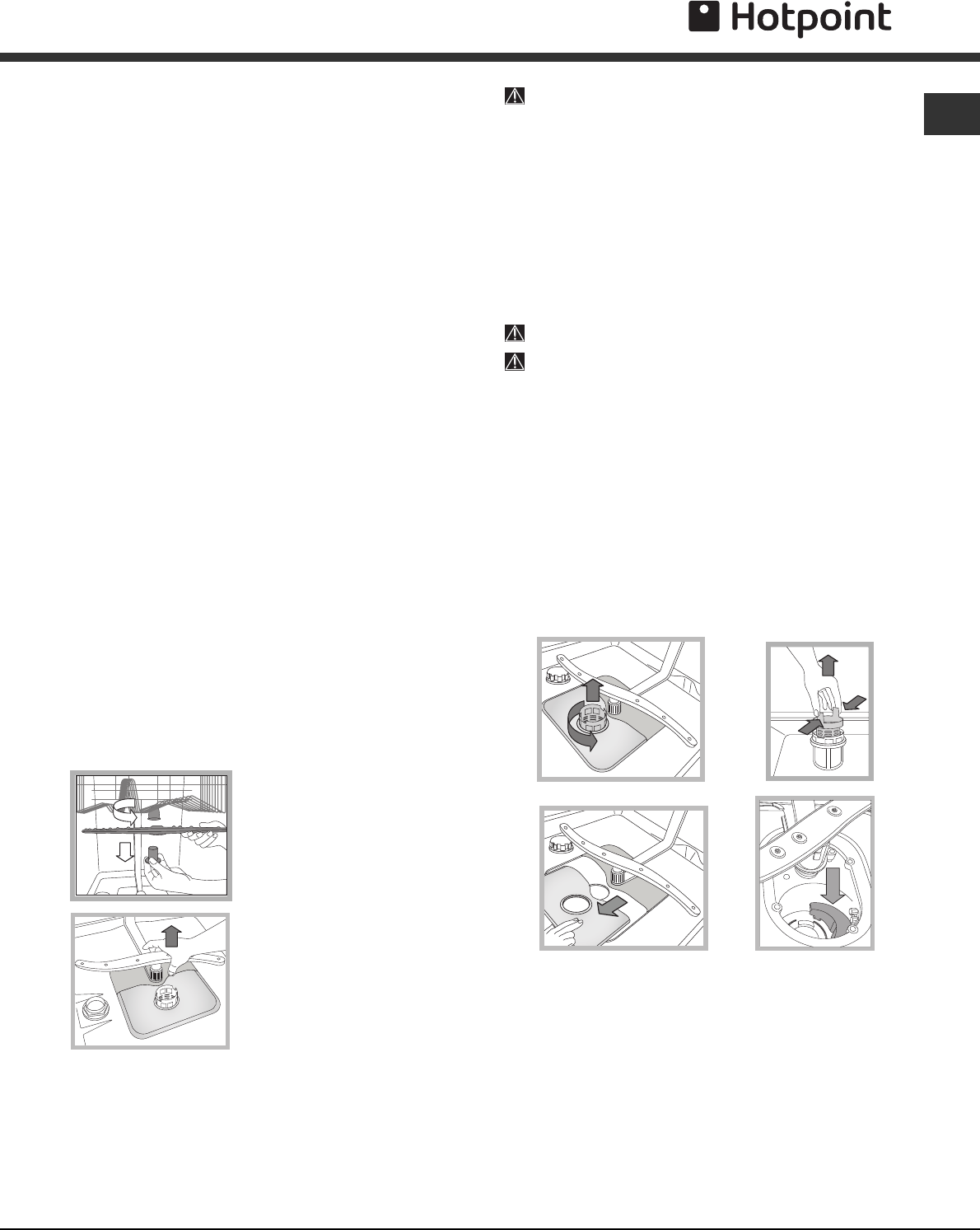 User manual Hotpoint LST216A (16 pages)