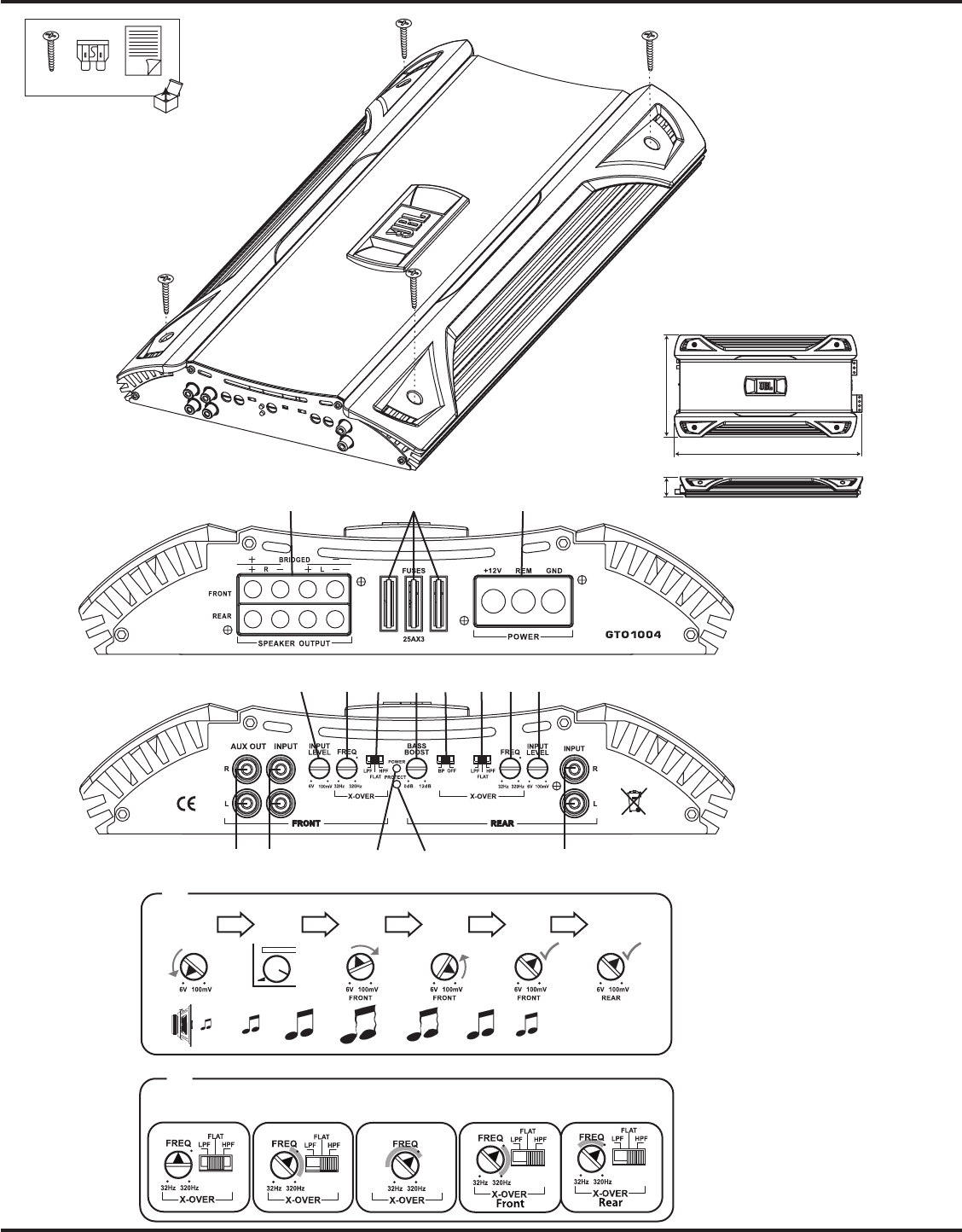 User manual JBL GTO1004 (4 pages)