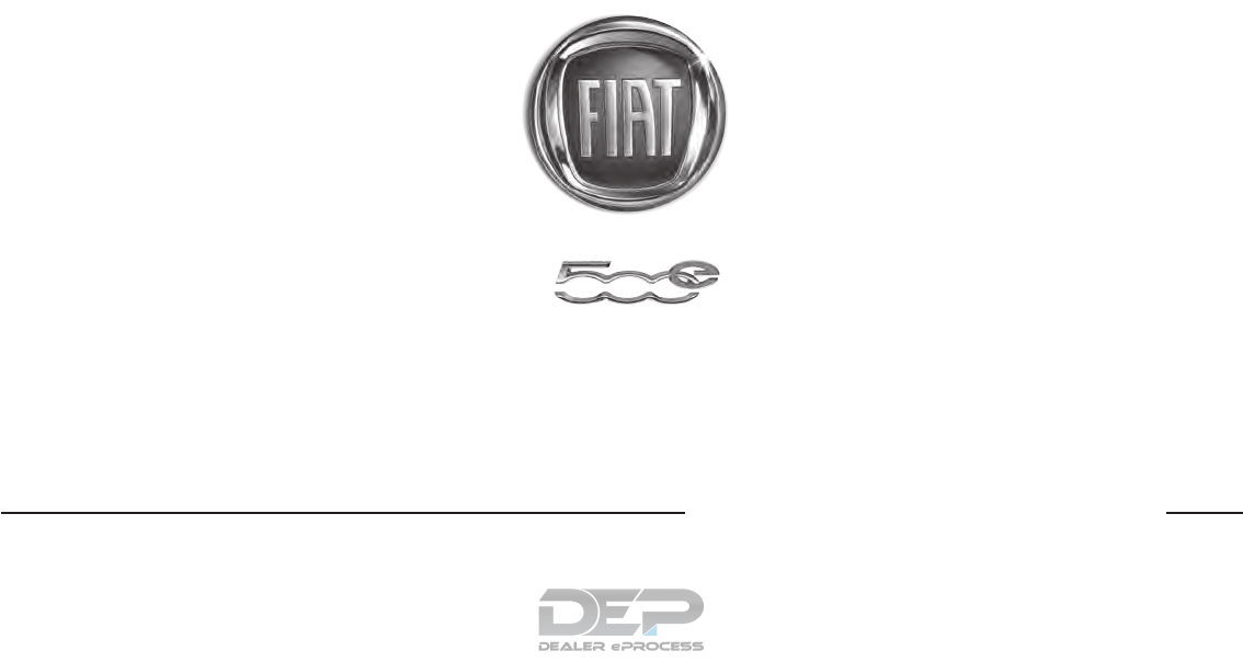 User manual Fiat 500e (2017) (300 pages)