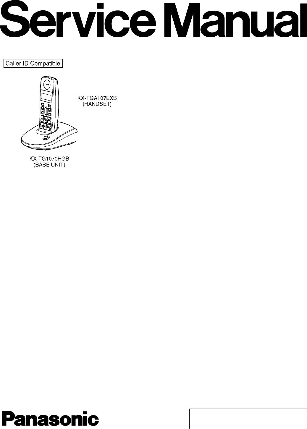 User manual Panasonic KX-TG1070 (41 pages)