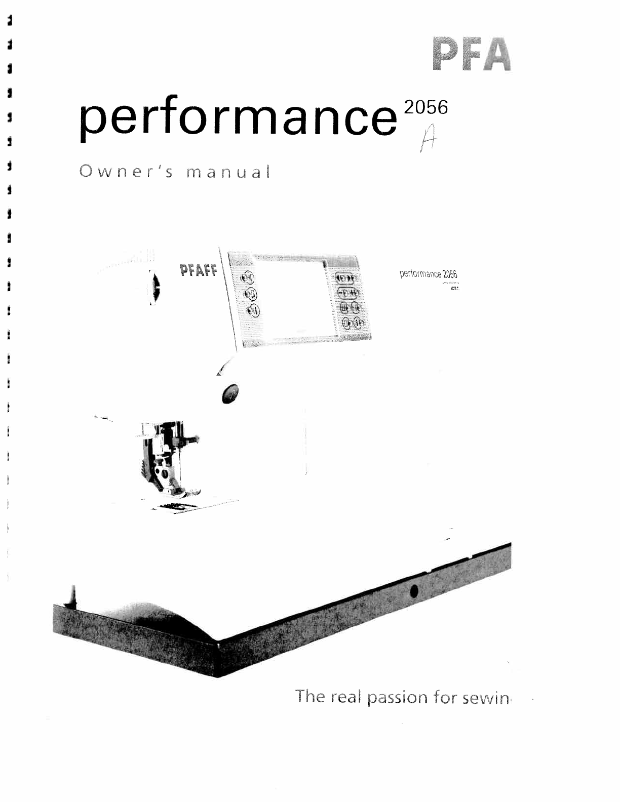 User manual Pfaff performance 2056 (110 pages)