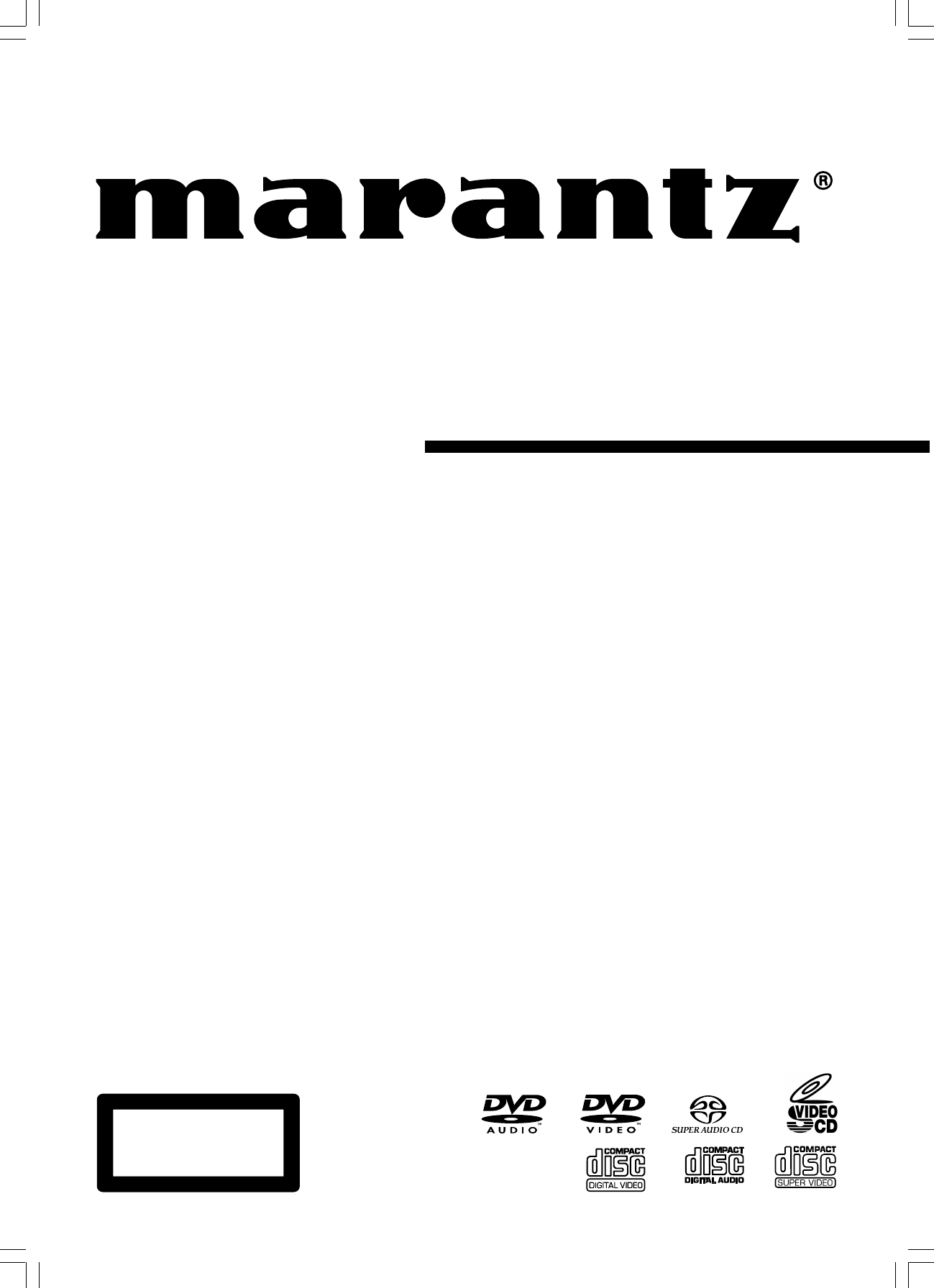 User manual Marantz DV7600 (56 pages)