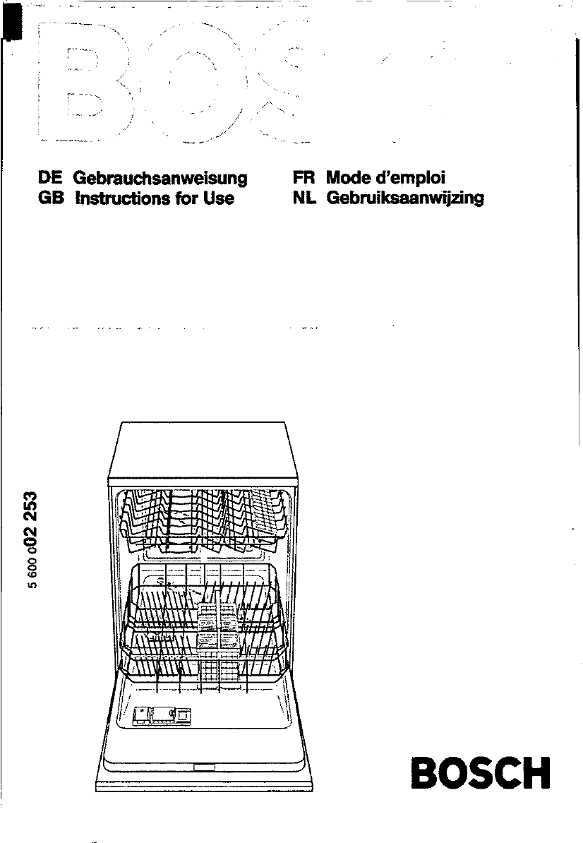 User manual Bosch SGS 3002 (89 pages)
