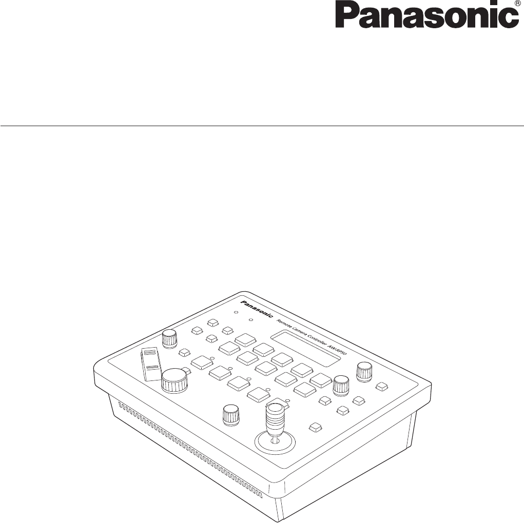 User manual Panasonic AW-RP50 (48 pages)