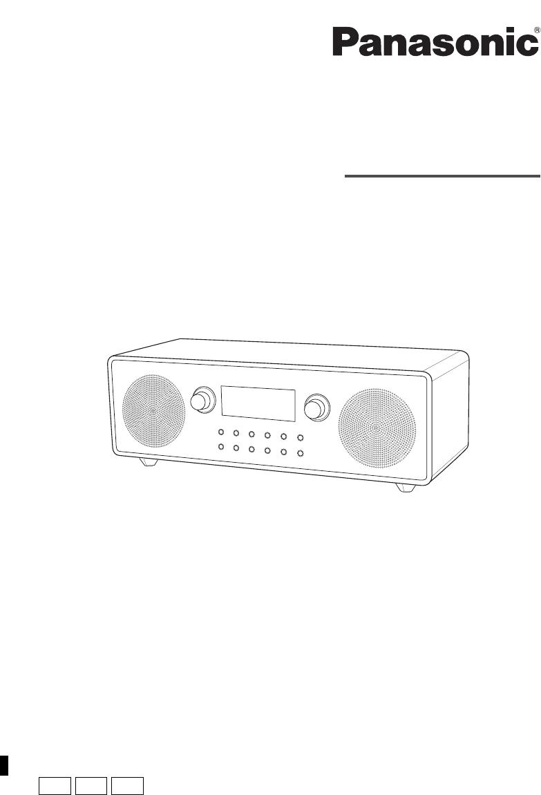 User manual Panasonic RF-D100BT (16 pages)