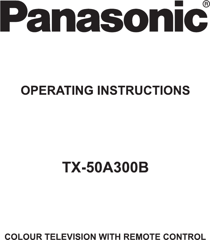 User manual Panasonic Viera TX-50A300B (22 pages)
