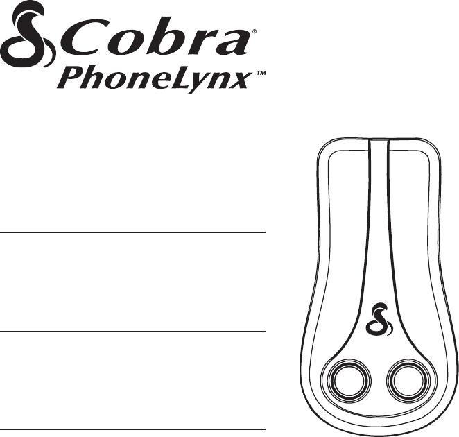 User manual Cobra PhoneLynx BT215 A (6 pages)