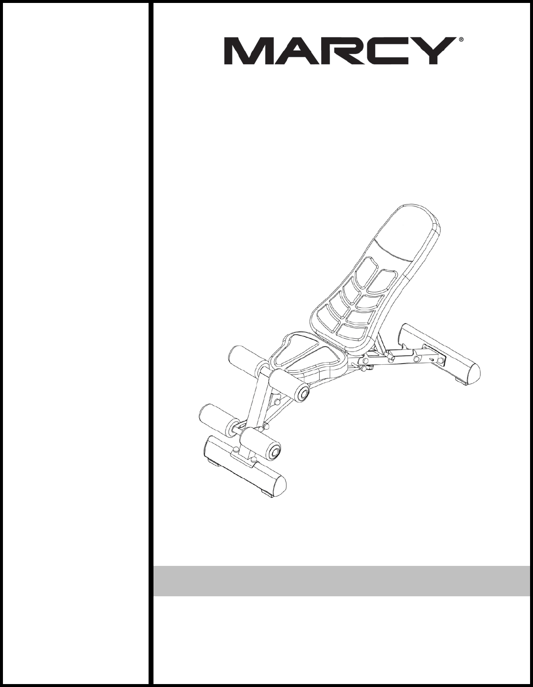 User manual Marcy SB-10100 (12 pages)
