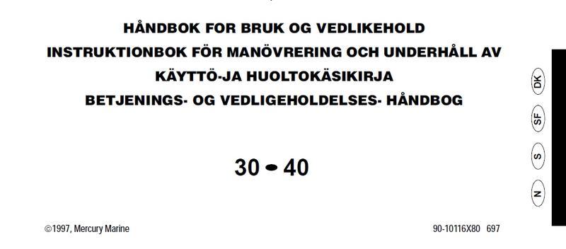 Original manual från tillverkare
