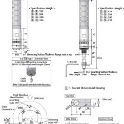 Porsche 996 Alarm Wiring Diagram Phase Solid Liquid Gas Patlite Signal Tower La6 See More Do Revolite Also Dimentions