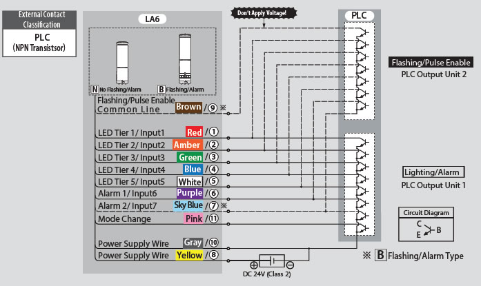 patlite wiring diagram