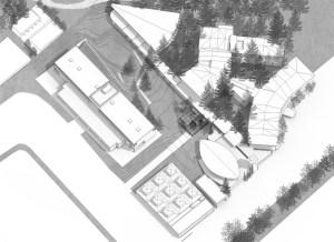 Manu Barba | arquitectura. Perspectiva espacio yúfera Cuenca