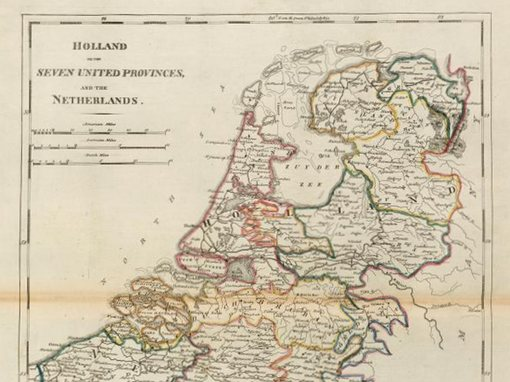 Netherlands Map - Manuche