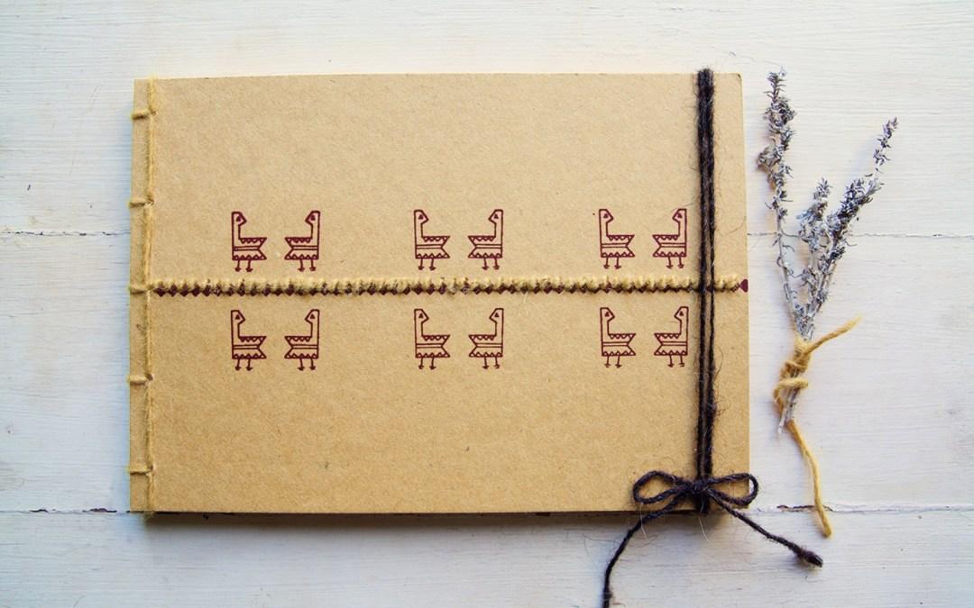 Quaderno Gallinella, ricamo su carta